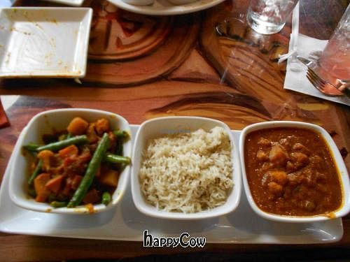 """Photo of Sanaa  by <a href=""""/members/profile/glassesgirl79"""">glassesgirl79</a> <br/>Vindaloo-style vegetables, Basmati rice, and spicy peas, chickpeas, and potatoes <br/> November 19, 2012  - <a href='/contact/abuse/image/35367/40468'>Report</a>"""