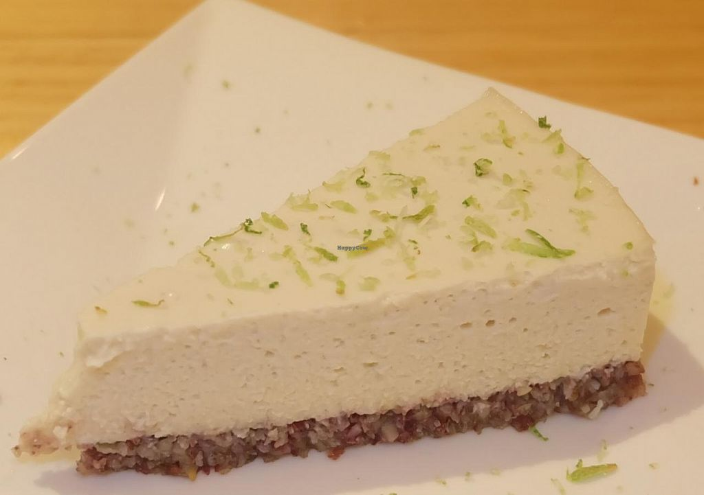 """Photo of CLOSED: at Peace Cafe  by <a href=""""/members/profile/JesseD"""">JesseD</a> <br/>Almost-raw lemon cashew cheesecake <br/> June 20, 2015  - <a href='/contact/abuse/image/35368/106674'>Report</a>"""