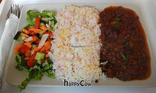 "Photo of Bollywood Indian Vegetarian  by <a href=""/members/profile/danielpoland"">danielpoland</a> <br/>Dal Makhni with Basmati Rice + Salad <br/> May 6, 2013  - <a href='/contact/abuse/image/35371/47879'>Report</a>"