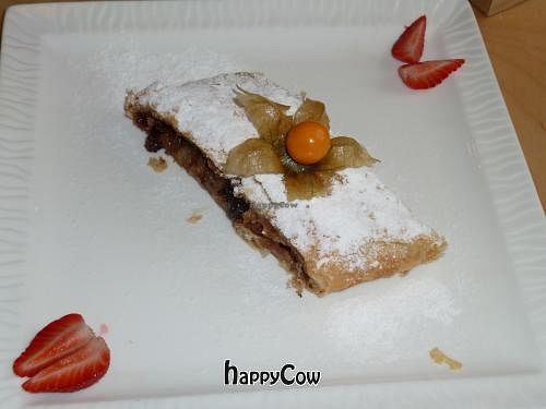 """Photo of Cafe Ukrop  by <a href=""""/members/profile/ericgoldman"""">ericgoldman</a> <br/>Vegan apple strudel <br/> June 5, 2013  - <a href='/contact/abuse/image/35392/49206'>Report</a>"""