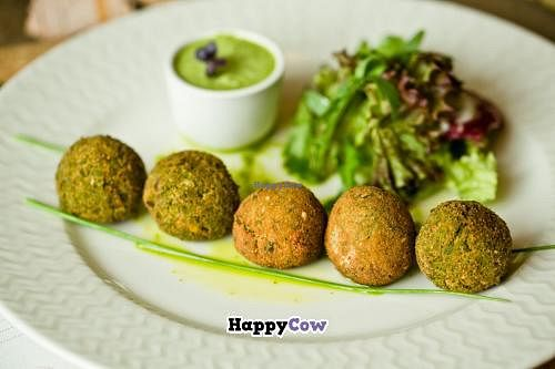 """Photo of Cafe Ukrop  by <a href=""""/members/profile/AlexanderGamayunov"""">AlexanderGamayunov</a> <br/>veggie balls with green peas and pistachios <br/> July 1, 2013  - <a href='/contact/abuse/image/35392/50560'>Report</a>"""