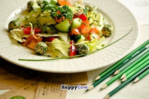 """Photo of Cafe Ukrop  by <a href=""""/members/profile/AlexanderGamayunov"""">AlexanderGamayunov</a> <br/>RAW 'Greek' salad <br/> July 1, 2013  - <a href='/contact/abuse/image/35392/50565'>Report</a>"""