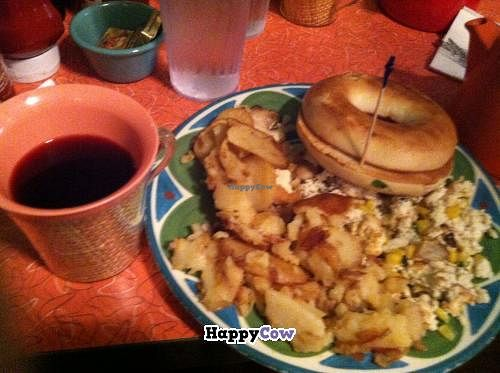 """Photo of The Friendly Toast  by <a href=""""/members/profile/futurefossils"""">futurefossils</a> <br/>Kates Scramble- veganized <br/> September 14, 2013  - <a href='/contact/abuse/image/35400/54874'>Report</a>"""