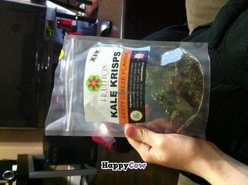 """Photo of CLOSED: Fruition - Seaport Farmers' Market  by <a href=""""/members/profile/trematode"""">trematode</a> <br/>Kale crisps. Yum! <br/> November 25, 2013  - <a href='/contact/abuse/image/35417/59109'>Report</a>"""