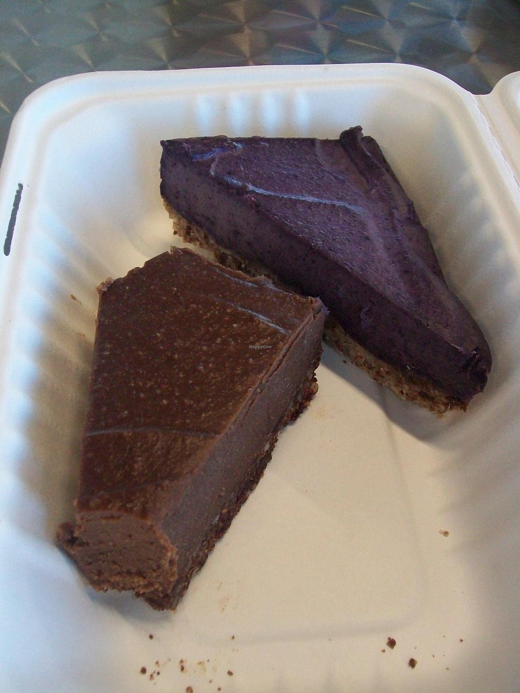 Photo of CLOSED: Fruition - Seaport Farmers' Market  by Eco Cay <br/>Delicious vegan mocha cheesecake and blueberry cheesecake! The blueberry is my favorite! <br/> May 3, 2014  - <a href='/contact/abuse/image/35417/69218'>Report</a>