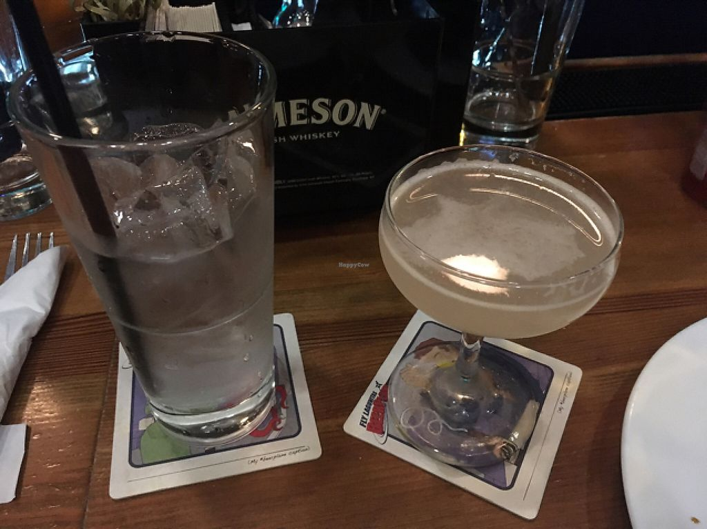 """Photo of The Chicago Diner - Logan Square  by <a href=""""/members/profile/monisonfire"""">monisonfire</a> <br/>cocktail with lavender <br/> May 13, 2017  - <a href='/contact/abuse/image/35433/258392'>Report</a>"""