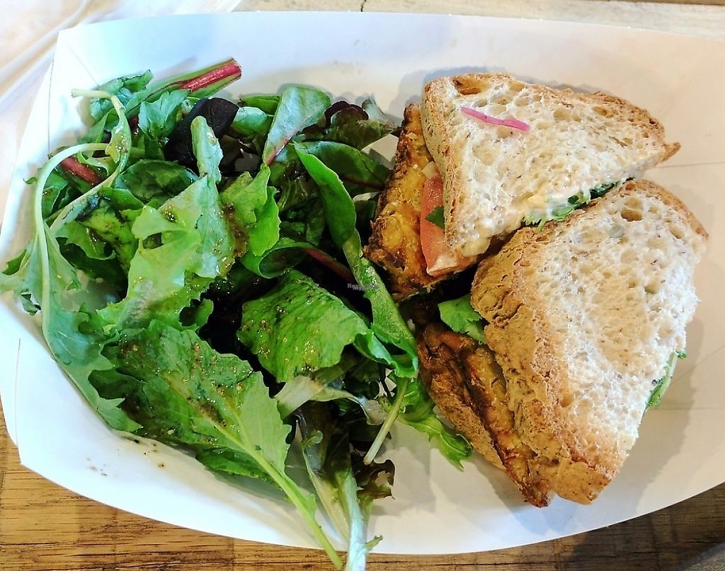 """Photo of Plum Pantry  by <a href=""""/members/profile/NamasteUp"""">NamasteUp</a> <br/>My fav!  The gluten-free chipolte sandwich with a fresh dressed salad.  <br/> March 4, 2017  - <a href='/contact/abuse/image/35435/233165'>Report</a>"""