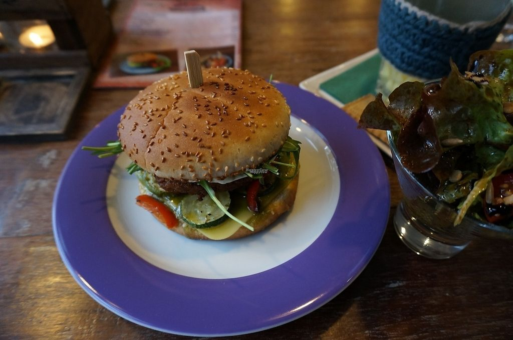 """Photo of Savory  by <a href=""""/members/profile/Ricardo"""">Ricardo</a> <br/>Toscana Burger w/Small Salad <br/> January 15, 2017  - <a href='/contact/abuse/image/35446/212226'>Report</a>"""