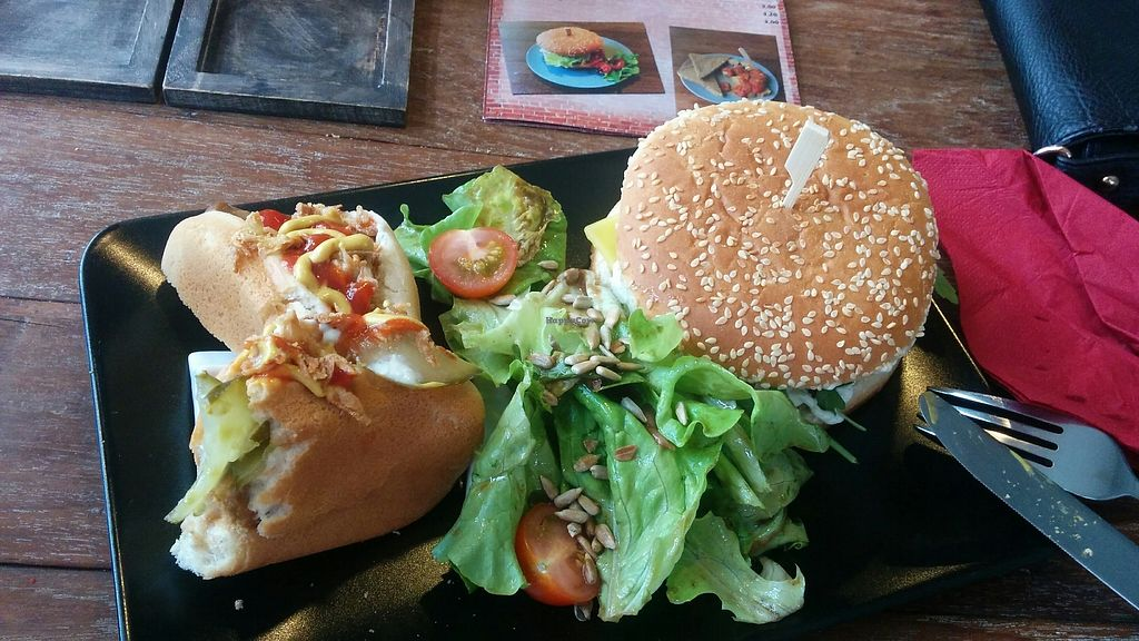 """Photo of Savory  by <a href=""""/members/profile/mariabmm"""">mariabmm</a> <br/>Toscana burger and hot dog <br/> December 24, 2017  - <a href='/contact/abuse/image/35446/338782'>Report</a>"""