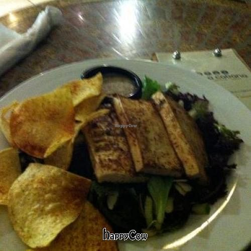 "Photo of Mocha Cabana  by <a href=""/members/profile/JacquelineRu88ell"">JacquelineRu88ell</a> <br/>House Salad with Grilled Tofu and Corn Chips <br/> December 24, 2012  - <a href='/contact/abuse/image/35461/41897'>Report</a>"