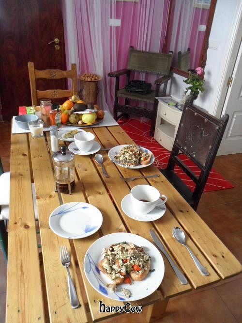 """Photo of Veganbnb Travel - Spain  by <a href=""""/members/profile/Clare"""">Clare</a> <br/>Scrambled tofu on toast. Delish <br/> December 8, 2012  - <a href='/contact/abuse/image/35474/41409'>Report</a>"""