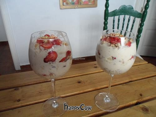 """Photo of Veganbnb Travel - Spain  by <a href=""""/members/profile/Clare"""">Clare</a> <br/>Fruit Parfait- Creamy, fruity and packed with energy <br/> December 8, 2012  - <a href='/contact/abuse/image/35474/41411'>Report</a>"""