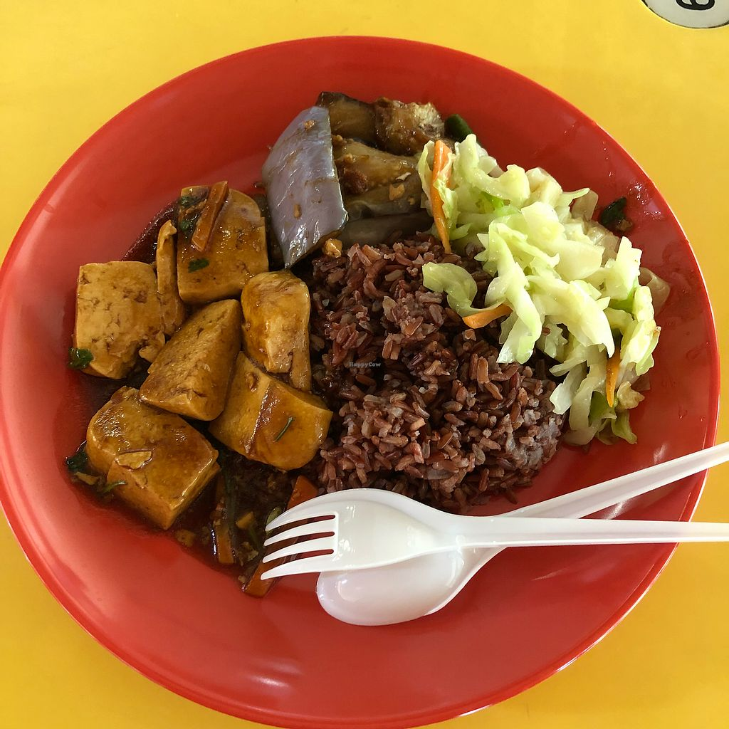 "Photo of Hong Yi Vegetarian  by <a href=""/members/profile/Cheryldarestotravel"">Cheryldarestotravel</a> <br/>Cai fan $3 tofu brinjal and cabbage <br/> February 6, 2018  - <a href='/contact/abuse/image/35475/355668'>Report</a>"