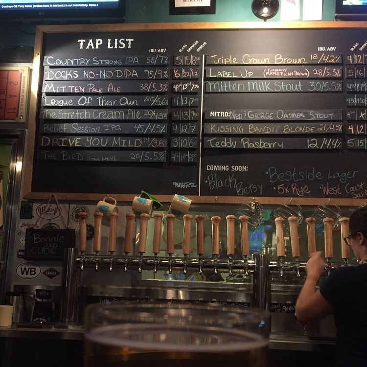 "Photo of The Mitten Brewing Co.  by <a href=""/members/profile/happycowgirl"">happycowgirl</a> <br/>awesome selection of local microbrews <br/> August 28, 2016  - <a href='/contact/abuse/image/35489/171864'>Report</a>"