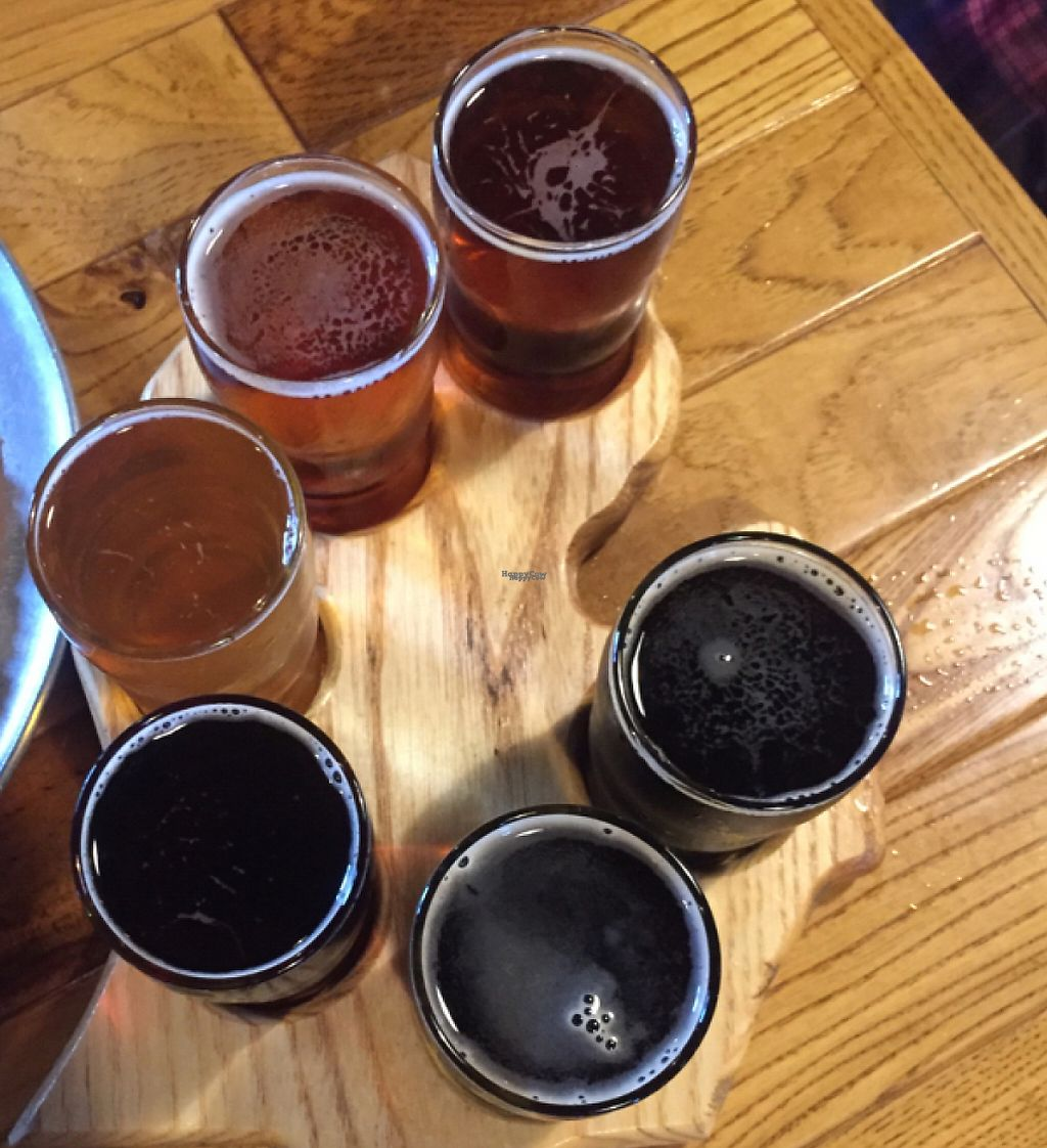 "Photo of The Mitten Brewing Co.  by <a href=""/members/profile/happycowgirl"">happycowgirl</a> <br/>Mitten sampler microbrew flight <br/> August 7, 2016  - <a href='/contact/abuse/image/35489/204497'>Report</a>"