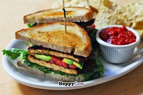 "Photo of Om Cafe  by <a href=""/members/profile/OMJessica"">OMJessica</a> <br/>TLT Sandwich - served lunches.  Sautéed tempeh, lettuce, avocado, tomato, homemade vegan aioli on toasted sourdough with local Ferndale corn chips and salsa <br/> September 19, 2013  - <a href='/contact/abuse/image/3551/55267'>Report</a>"