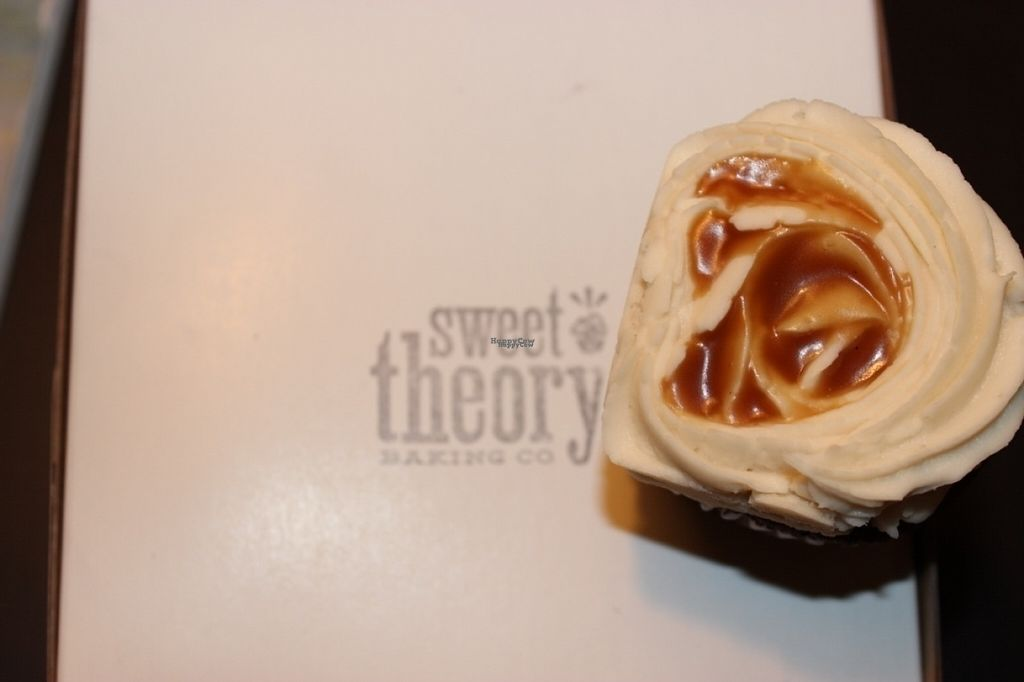 """Photo of Sweet Theory Baking Co.  by <a href=""""/members/profile/veggie_htx"""">veggie_htx</a> <br/>Salted caramel cupcake to-go <br/> August 13, 2016  - <a href='/contact/abuse/image/35521/168374'>Report</a>"""