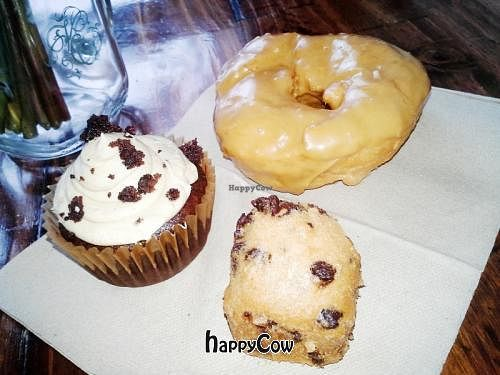 """Photo of Sweet Theory Baking Co.  by <a href=""""/members/profile/JessinJax"""">JessinJax</a> <br/>Sunbutter Brownie Explosion Cupcake, Maple Espresso Doughnut and Chocolate Chip Mini <br/> December 9, 2012  - <a href='/contact/abuse/image/35521/41433'>Report</a>"""