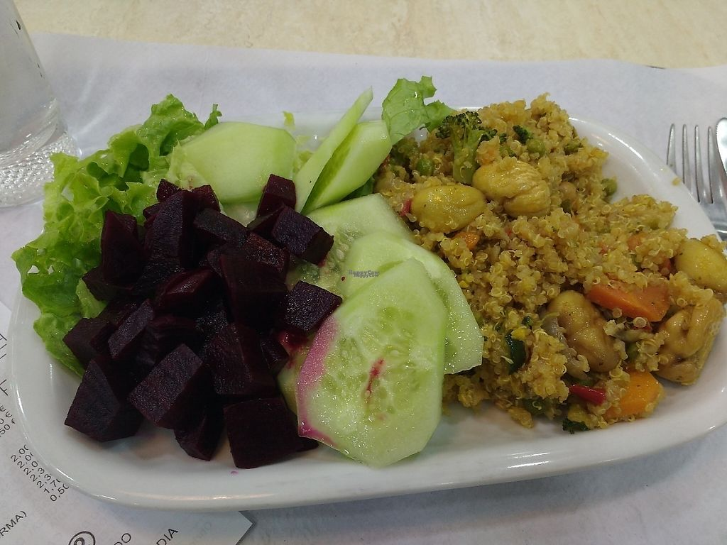 """Photo of Bioforma Restaurant  by <a href=""""/members/profile/Genlo"""">Genlo</a> <br/>Quinoa with vegetables and sweet chestnuts <br/> February 27, 2017  - <a href='/contact/abuse/image/35556/231008'>Report</a>"""