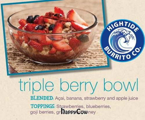 """Photo of High Tide Burrito  by <a href=""""/members/profile/JessinJax"""">JessinJax</a> <br/>Triple Berry Acai Bowl <br/> December 4, 2012  - <a href='/contact/abuse/image/35582/41229'>Report</a>"""