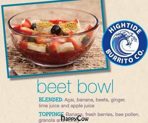 """Photo of High Tide Burrito  by <a href=""""/members/profile/JessinJax"""">JessinJax</a> <br/>Beet Bowl <br/> December 4, 2012  - <a href='/contact/abuse/image/35582/41230'>Report</a>"""
