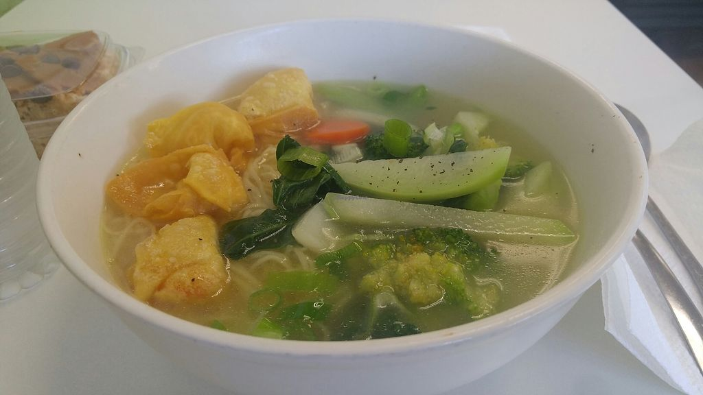 """Photo of Vegan to Goloka  by <a href=""""/members/profile/rklevens"""">rklevens</a> <br/>wonton soup <br/> August 2, 2017  - <a href='/contact/abuse/image/35589/287859'>Report</a>"""