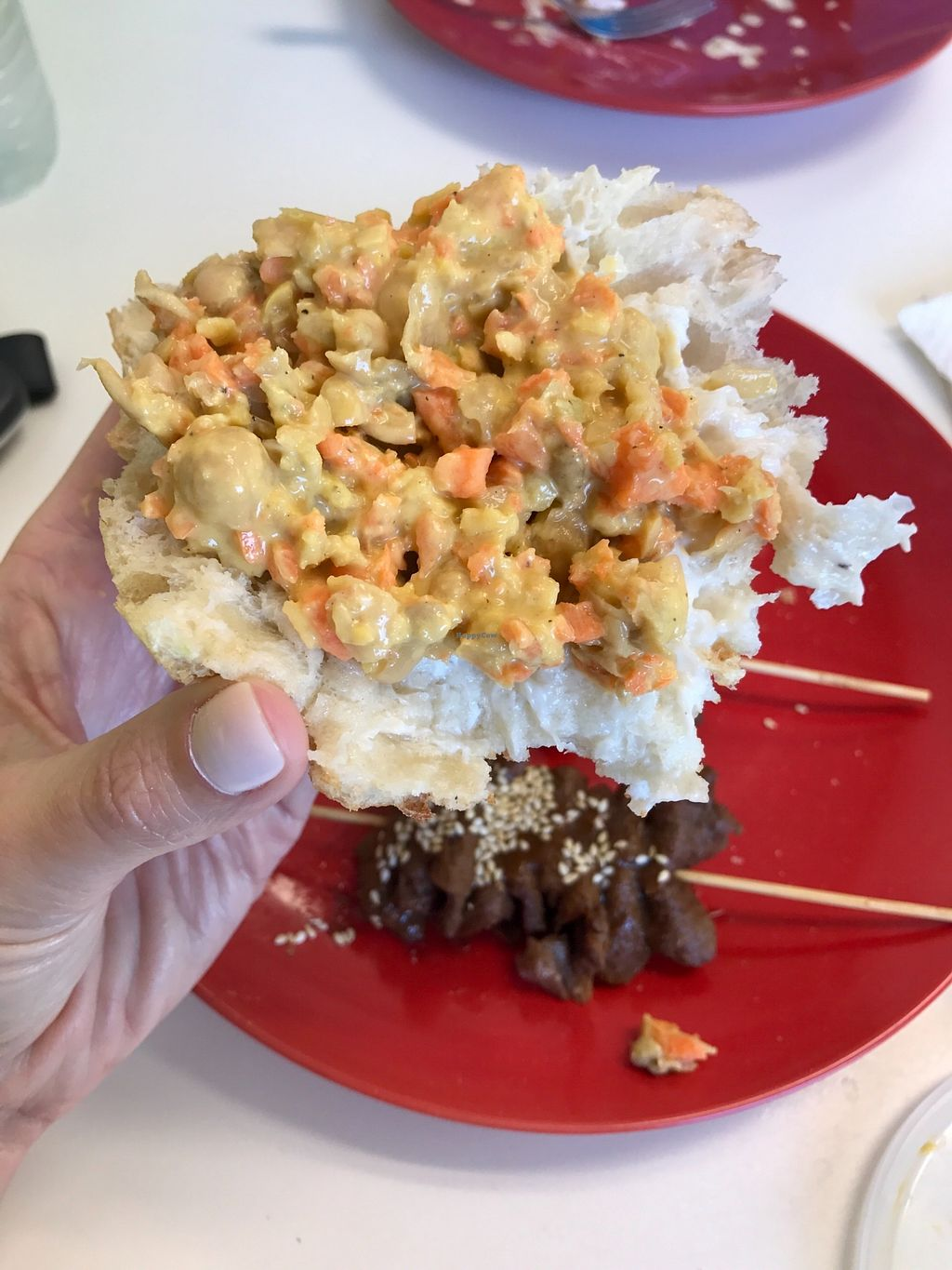 """Photo of Vegan to Goloka  by <a href=""""/members/profile/melissapedroso"""">melissapedroso</a> <br/>Tuna salad <br/> October 31, 2017  - <a href='/contact/abuse/image/35589/320365'>Report</a>"""