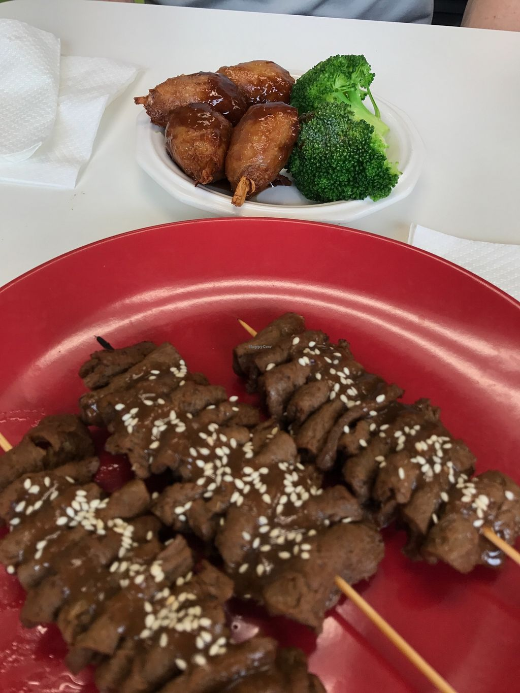 """Photo of Vegan to Goloka  by <a href=""""/members/profile/melissapedroso"""">melissapedroso</a> <br/>Skewers and wings <br/> October 31, 2017  - <a href='/contact/abuse/image/35589/320368'>Report</a>"""