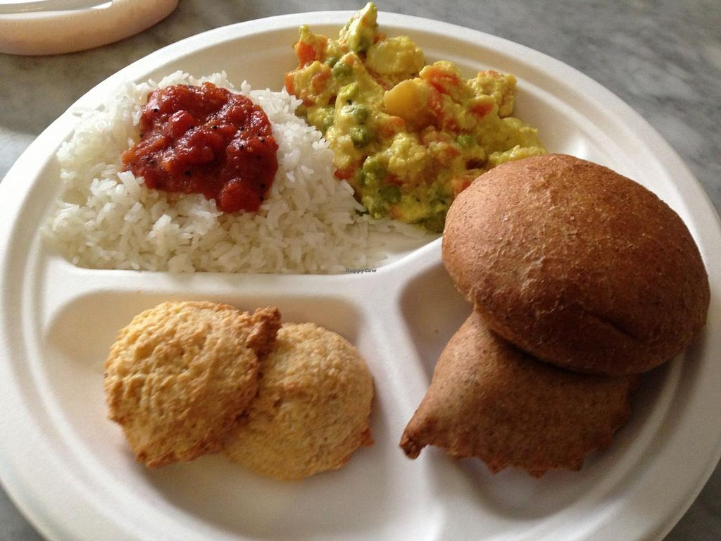 "Photo of Radha Cuisine  by <a href=""/members/profile/veggieriga"">veggieriga</a> <br/>Radha lunch set <br/> January 1, 2014  - <a href='/contact/abuse/image/35606/61448'>Report</a>"