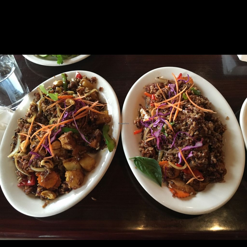 """Photo of Thai Vegan - Nob Hill  by <a href=""""/members/profile/Sarah_veg"""">Sarah_veg</a> <br/>left is pineapple and right is spicy fried rice <br/> March 12, 2016  - <a href='/contact/abuse/image/35625/139714'>Report</a>"""