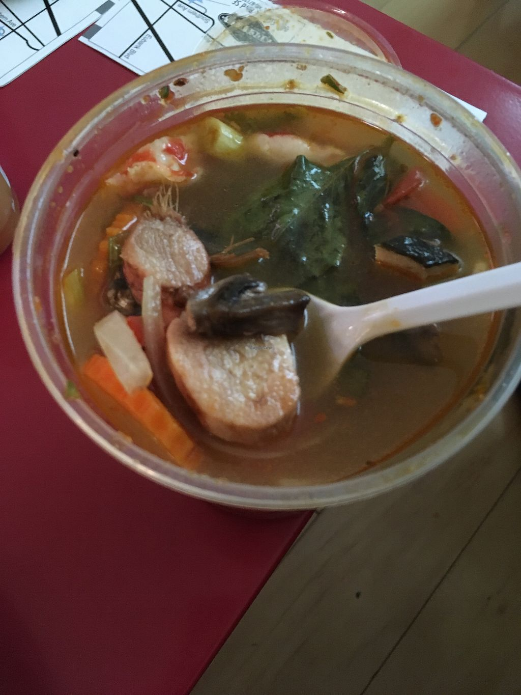 """Photo of Thai Vegan - Nob Hill  by <a href=""""/members/profile/AlexandraPhillips"""">AlexandraPhillips</a> <br/>spicy seafood soup  <br/> August 2, 2017  - <a href='/contact/abuse/image/35625/287984'>Report</a>"""