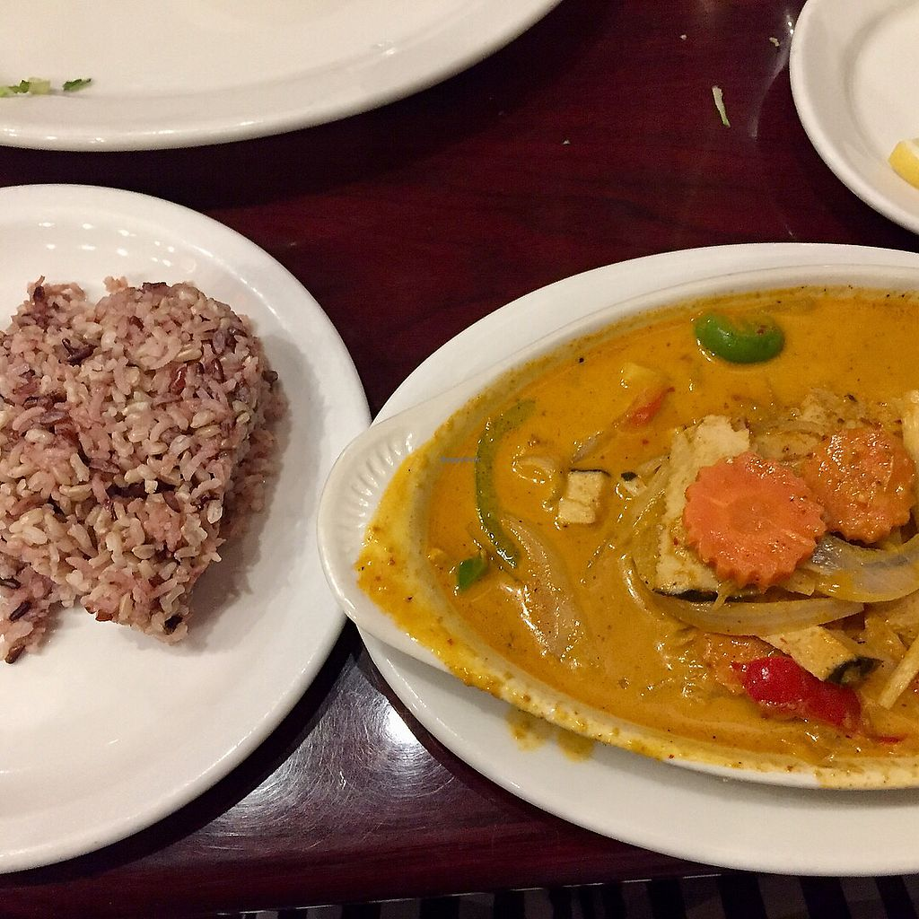 """Photo of Thai Vegan - Nob Hill  by <a href=""""/members/profile/chris1"""">chris1</a> <br/>Red curry with """"fish"""" <br/> December 9, 2017  - <a href='/contact/abuse/image/35625/333771'>Report</a>"""