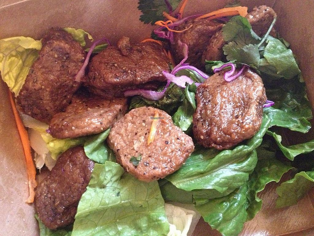 Photo of Thai Vegan - Nob Hill  by RamblingVegans <br/>Mushroom steak.  SO delicious!  <br/> March 2, 2014  - <a href='/contact/abuse/image/35625/65087'>Report</a>