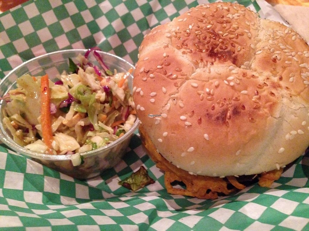 """Photo of Green New American Vegetarian  by <a href=""""/members/profile/TraciH"""">TraciH</a> <br/>Big Wac with Tahini coleslaw <br/> July 18, 2016  - <a href='/contact/abuse/image/3562/160735'>Report</a>"""