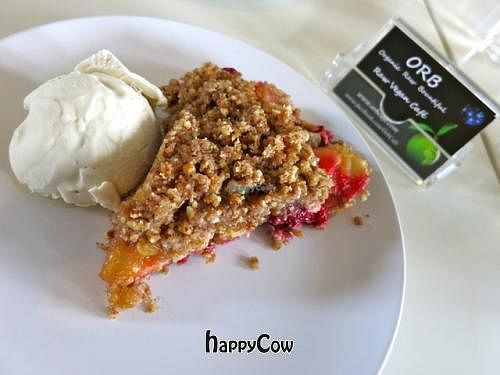 """Photo of CLOSED: ORB Cafe  by <a href=""""/members/profile/Chnanis"""">Chnanis</a> <br/>Apple & Berries Cobbler with Ginger Ice-cream <br/> May 4, 2013  - <a href='/contact/abuse/image/35637/47786'>Report</a>"""