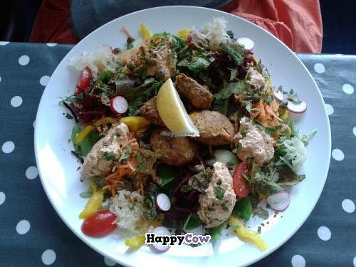 """Photo of CLOSED: ORB Cafe  by <a href=""""/members/profile/TrixieFirecracker"""">TrixieFirecracker</a> <br/>Fishless fishcakes <br/> July 21, 2013  - <a href='/contact/abuse/image/35637/51693'>Report</a>"""