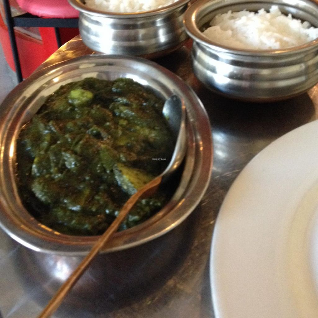 """Photo of CLOSED: Euro-Tandoor  by <a href=""""/members/profile/FromVegtoVegan"""">FromVegtoVegan</a> <br/>Aloo palaka w/ rice <br/> December 28, 2013  - <a href='/contact/abuse/image/35644/61050'>Report</a>"""