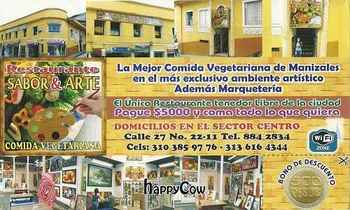 "Photo of CLOSED: Sabor y Arte  by <a href=""/members/profile/maynard7"">maynard7</a> <br/>Front of their brochure <br/> December 22, 2012  - <a href='/contact/abuse/image/35657/41791'>Report</a>"