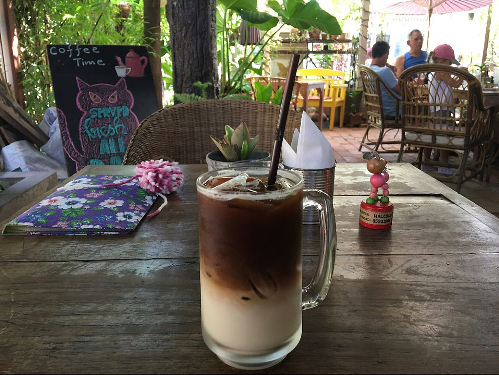 """Photo of Taa Peng Cat Coffee and Eatery  by <a href=""""/members/profile/MitchGuy"""">MitchGuy</a> <br/>Soy Thai Coffee  <br/> May 15, 2017  - <a href='/contact/abuse/image/35676/258897'>Report</a>"""
