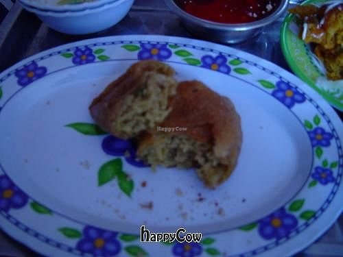 """Photo of Govinda's  by <a href=""""/members/profile/hierax"""">hierax</a> <br/>curry stuffed samosa (empanada) <br/> March 11, 2013  - <a href='/contact/abuse/image/35702/45319'>Report</a>"""