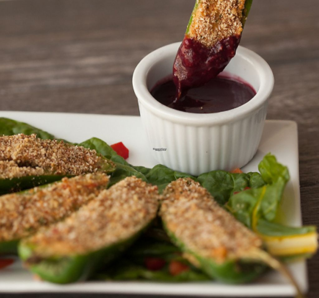 """Photo of Zest Kitchen & Bar  by <a href=""""/members/profile/caseystaker"""">caseystaker</a> <br/>jalapeno poppers w/quinoa cashew cream filling  <br/> December 3, 2016  - <a href='/contact/abuse/image/35705/230413'>Report</a>"""