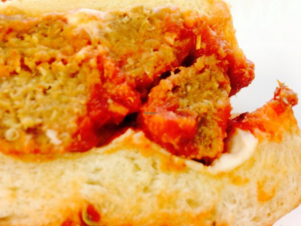 """Photo of Firehouse Deli  by <a href=""""/members/profile/cookiem"""">cookiem</a> <br/>Vegan meatballs up close <br/> August 14, 2014  - <a href='/contact/abuse/image/35728/202042'>Report</a>"""