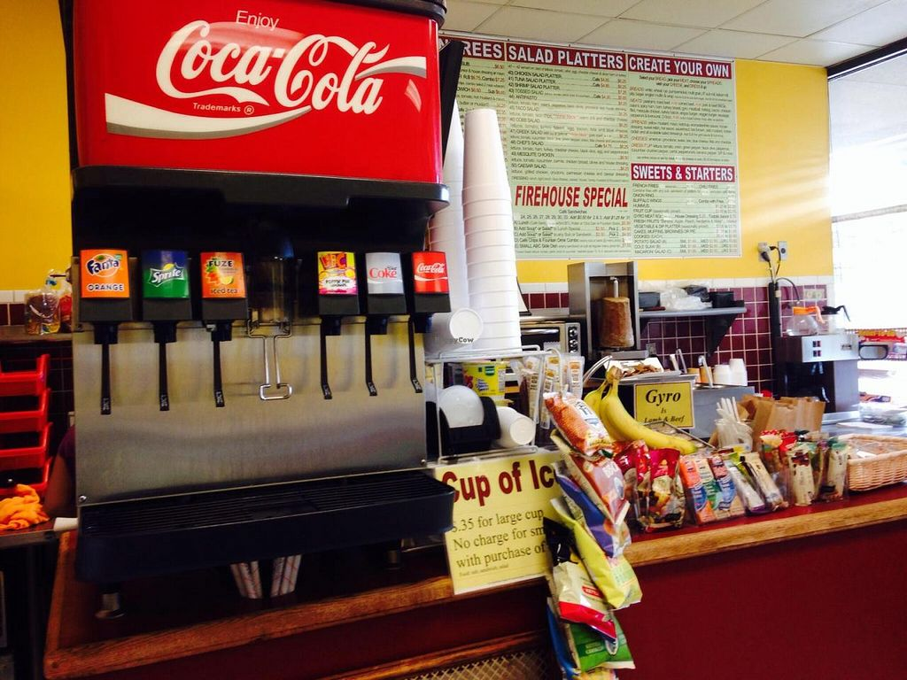 """Photo of Firehouse Deli  by <a href=""""/members/profile/cookiem"""">cookiem</a> <br/>Soda at counter <br/> August 14, 2014  - <a href='/contact/abuse/image/35728/76925'>Report</a>"""