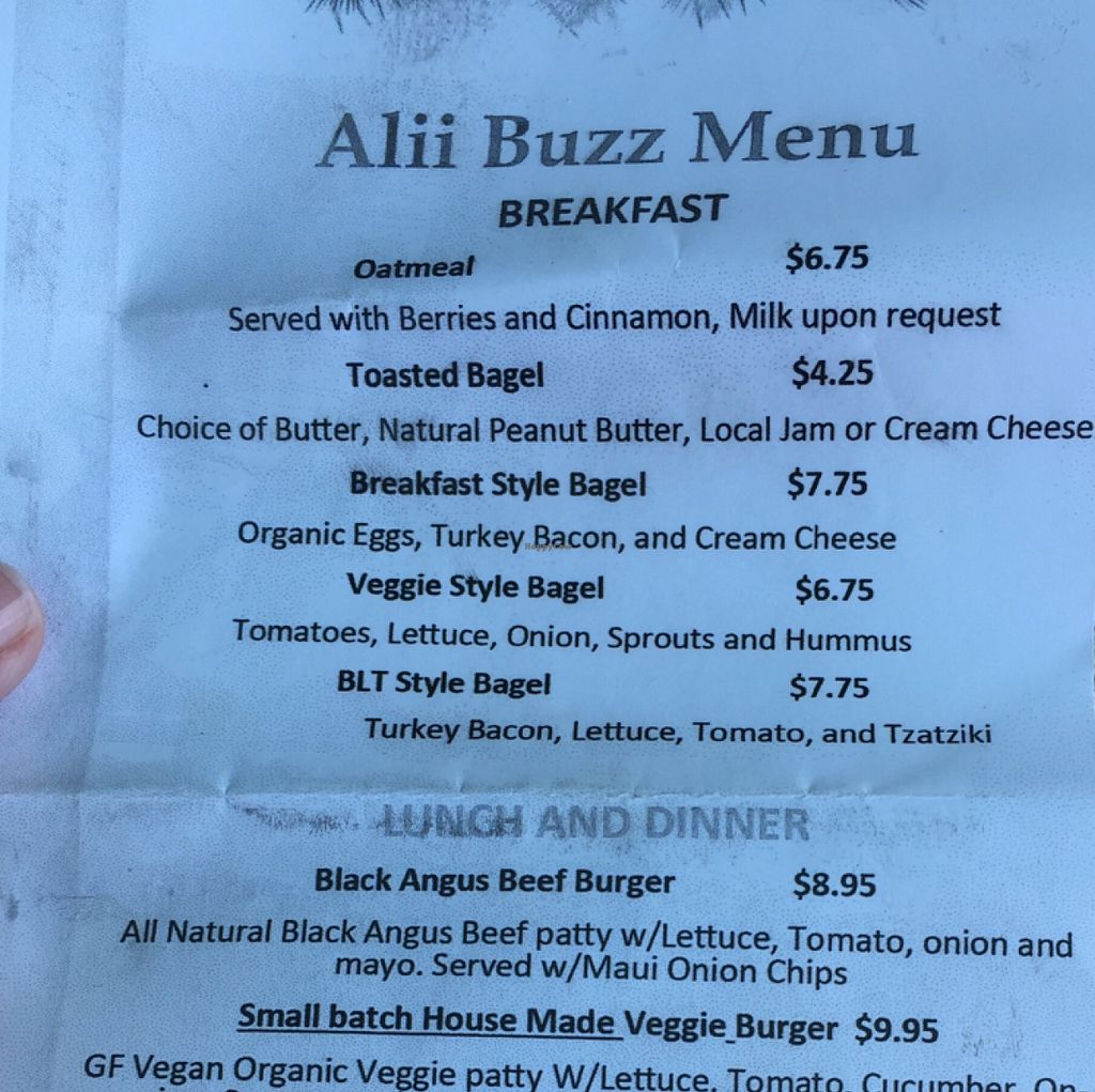 "Photo of CLOSED: Ali'i Buzz Cafe  by <a href=""/members/profile/shineonyou"">shineonyou</a> <br/>Breakfast Menu- January 6, 2016 <br/> January 6, 2016  - <a href='/contact/abuse/image/35738/131328'>Report</a>"