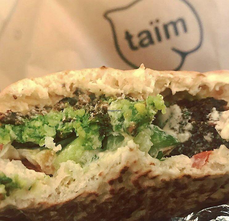 "Photo of Taim - Nolita  by <a href=""/members/profile/Tabgreenvegan"">Tabgreenvegan</a> <br/>Falafel Sandwich  <br/> March 29, 2018  - <a href='/contact/abuse/image/35743/377879'>Report</a>"