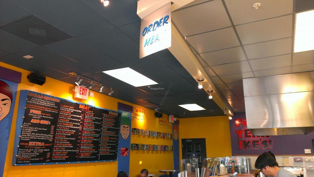 """Photo of Ike's  by <a href=""""/members/profile/mmeghani"""">mmeghani</a> <br/>Menu on the wall. Colorful place <br/> March 13, 2014  - <a href='/contact/abuse/image/35774/65814'>Report</a>"""