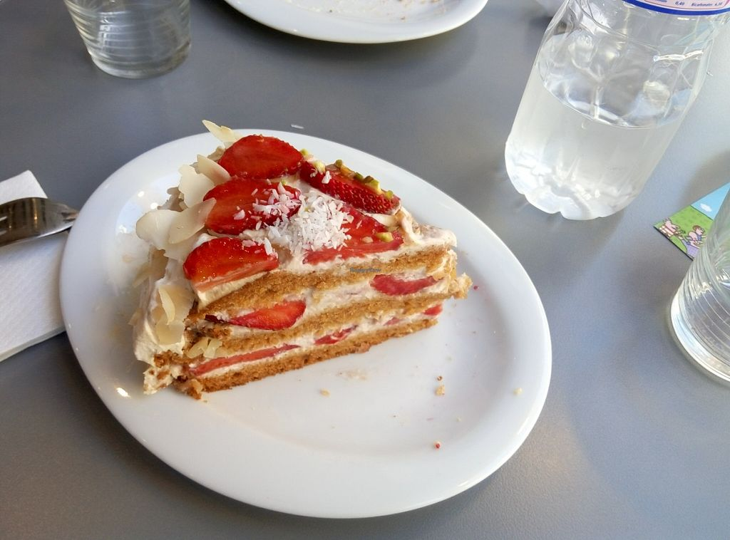 "Photo of Aux Deux Portes Cafe  by <a href=""/members/profile/Marziolitas"">Marziolitas</a> <br/>Strawberry tofucream coconut and almonds so yummy  <br/> July 2, 2016  - <a href='/contact/abuse/image/35778/157405'>Report</a>"