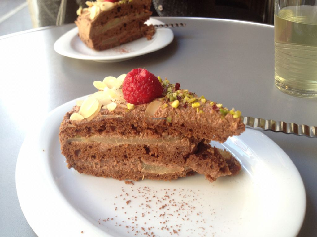 "Photo of Aux Deux Portes Cafe  by <a href=""/members/profile/YuriS"">YuriS</a> <br/>chocolate cake <br/> July 12, 2016  - <a href='/contact/abuse/image/35778/159419'>Report</a>"