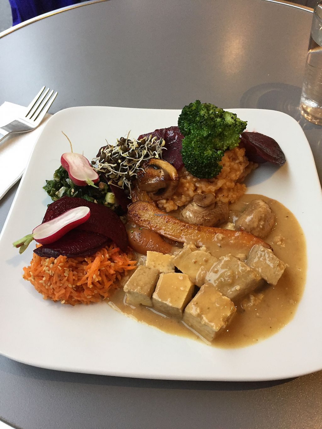 "Photo of Aux Deux Portes Cafe  by <a href=""/members/profile/Veganfoodexplorer"">Veganfoodexplorer</a> <br/>Plat du jour  <br/> January 22, 2018  - <a href='/contact/abuse/image/35778/349795'>Report</a>"