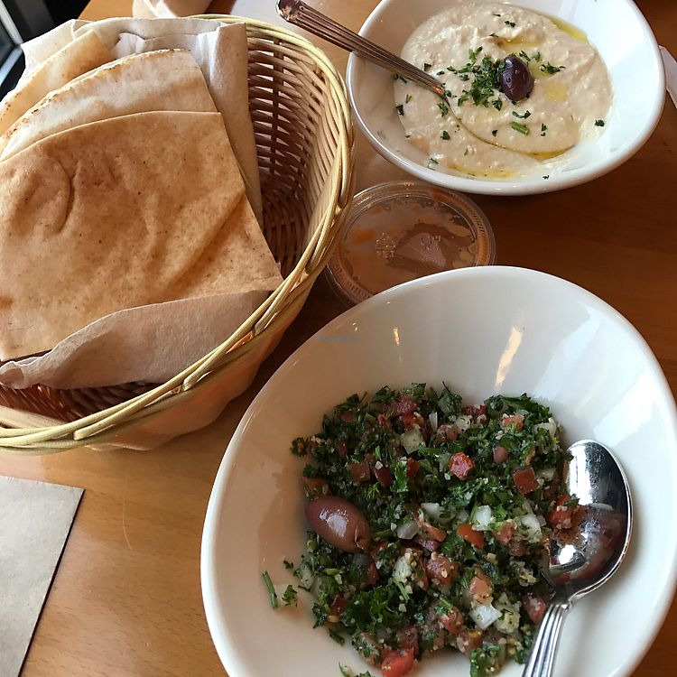 "Photo of Aladdin's Eatery  by <a href=""/members/profile/kjconrad88"">kjconrad88</a> <br/>Hummus & tabouli  <br/> June 22, 2017  - <a href='/contact/abuse/image/35832/272449'>Report</a>"